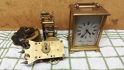 Collection Of Clock Parts, including heavy carriage clock