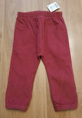 BNWT next baby boys 9-12 months trousers elasticated waist NEW soft cord style