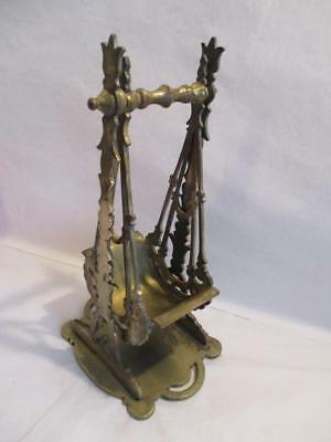 UNUSUAL ANTIQUE BRASS SWING BOAT MATCH HOLDER / MATCH  STRIKER Lg TABLE VESTA
