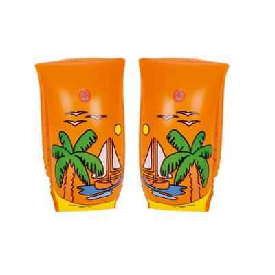 Set of 2 Orange Sail Boat Voyage Inflatable Swimming Pool Arm Floats for Kids