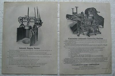 19th Century Handbills SARGENT'S SONS CORP. Graniteville Ma. AUTOMATIC MACHINES