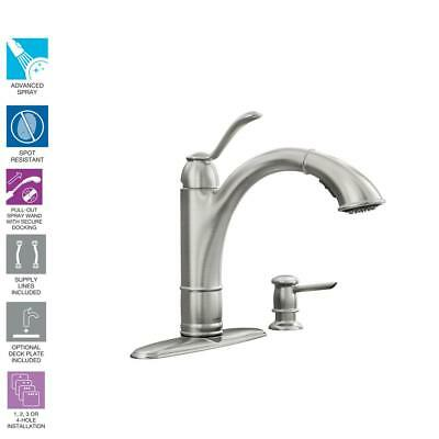 MOEN NOELL SINGLE-HANDLE Pull-Down Sprayer Kitchen Faucet ...