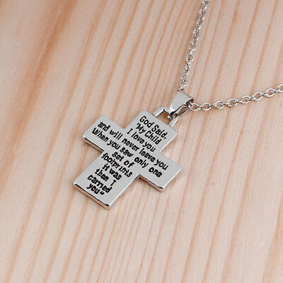 European American Fashion Enamel Ankle Style Necklace Cross Letter Pendant L
