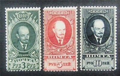 nystamps Russia Stamp # 406-408 Mint OG NH $30