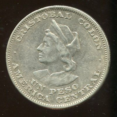 ** El Salvador 1904 C.a.m. Peso - Colon Silver ...low Minted 6Oo K. **