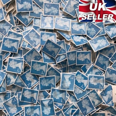 100 x 2nd Class Unfranked Stamps No Gum Off Paper Stamp FV £58 Collecting Or Art