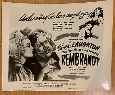 Rembrandt (1936) One Uk Foh Still /lobby Card Charles Laughton