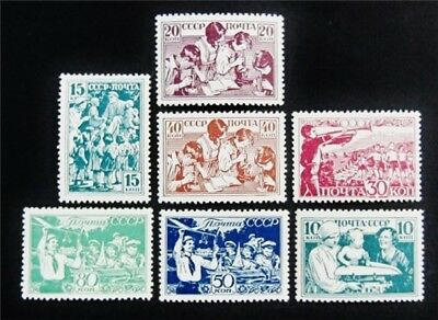 nystamps Russia Stamp # 659-665 Mint OG H $50