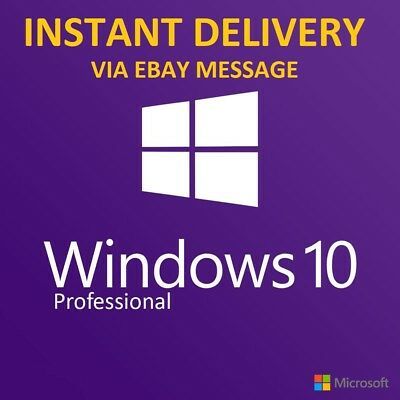 Windows 10 Professional Pro Key 32/64 Bit Genuine Activation Code License