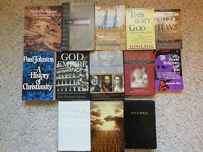 Mixed Lot of 13 Books on World Religions From Ancient to Present