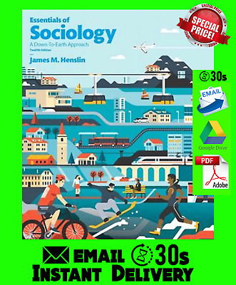 Essentials of Sociology by James M. Henslin 12th Edition 🔥 PDF 🔥(30s).