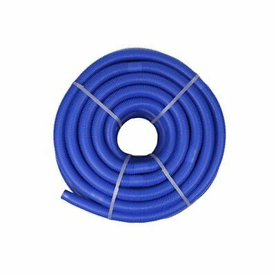 Blue Blow-Molded PE In-Ground Swimming Pool Cuttable Vacuum Hose - 147.5' x