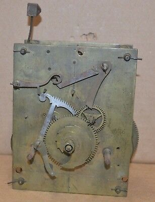 Antique Tall Case Grandfather 8 Day Bell Strike Clock Movement Parts