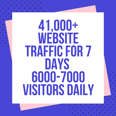 41,000+ Website Traffic For 7 Day from Search Engine and Social Media 6000 daily