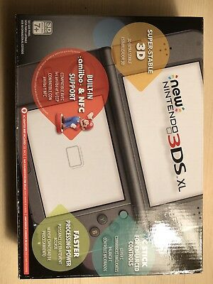 Nintendo 3DS XL Launch Edition Black Handheld System (With Wall Charger)