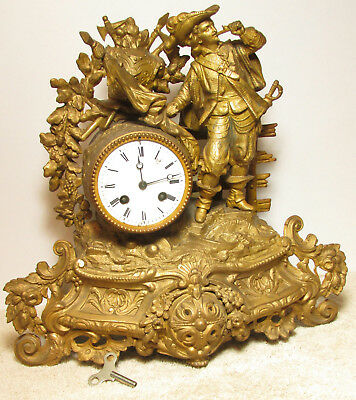 Awesome Antique Fancy French Mantle Clock - Must See !!!