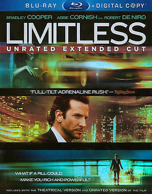 NEW/SEALED Limitless [ Blu-ray+Digital ] unrated Extended Cut, Free shipping