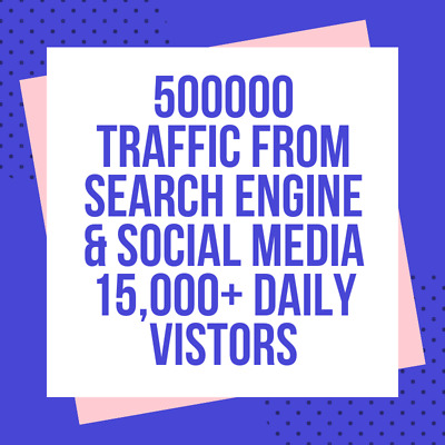 15000 Daily Website Traffic Worldwide from Search engine & Social Media for SEO
