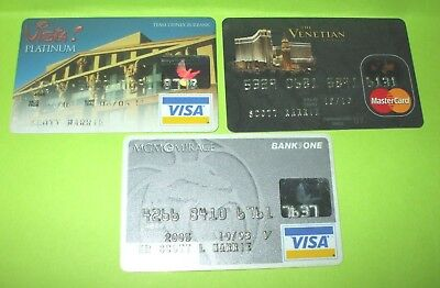 Exp. Mastercard & Visa Credit Card Lot - Mgm Mirage,the Venetian,vista Platinum