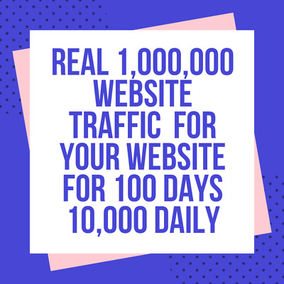 1,000,000 Traffic Worldwide from Search engine & Social Media For Website SEO