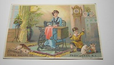 Antique Victorian House Hold Sewing Machine Advertising Trade Card