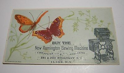 Antique Victorian New Remington Sewing Machine Advertising Trade Card