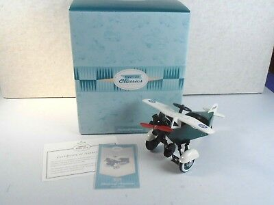"Hallmark Kiddie Car Classics Pedal Car *1935 Murray Steelcraft 7"" Airplane* Mib"