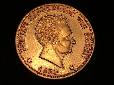 T2: German State of Baden 1830 Silver Thaler (Cleaned). Free Shipping in U.S.