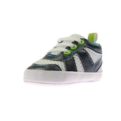 Luvable Friends Blue Infant Cotton Mesh Sneakers Small 0-6 MO BHFO 5260