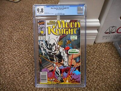 Marc Spector Moon Knight 13 cgc 9.8 newsstand variant cover MINT WHITE pg Marvel
