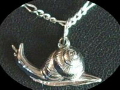 LOOK Silver Snail Pendant Charm Animal Celtic Jewelry