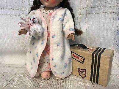 1950's Vintage Doll CLOTHES - Robe, Gown, Slippers -  Vogue Ginny, Ginger, 8""
