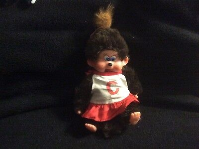 1982 Monchhichi girl money with red and white dress