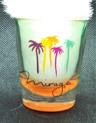 vintage Mirage Casino Hotel Vegas shot glass