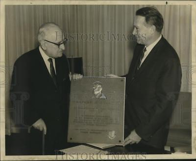 1968 Press Photo A plaque presented to the newspaper by Tulane University.