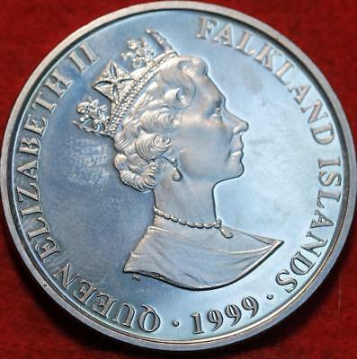 Uncirculated 1999 Falkland Islands 2 Pounds Clad Foreign Coin
