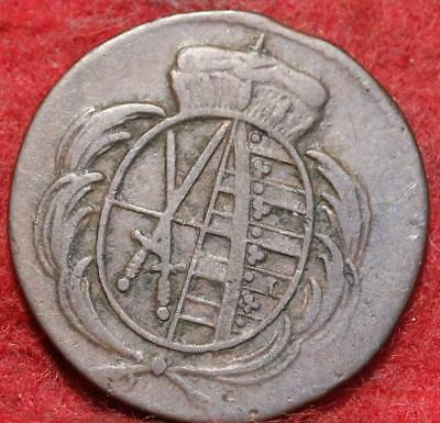 1780 German States Saxony 1 Heller Foreign Coin