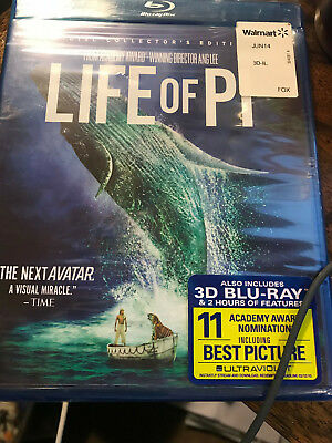 Life of Pi (3-Disc Collector s Edition) blu-ray No slipcover