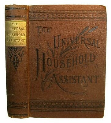 ANTIQUE COOKBOOK Farm Guide 1885 Household Home Remedies Soap Making Tanning &c