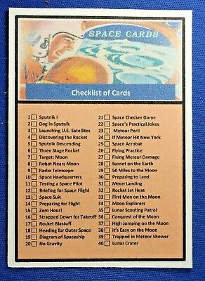 1957 Topps Space Cards - CHECKLIST Card - Custom Made 2019