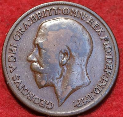 1919 Great Britain 1 Penny Foreign Coin