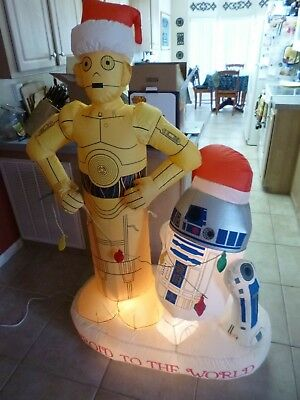 "5'5"" Star Wars CP30 - R2 D2 AIRBLOWN INFLATABLE YARD ART LIGHT UP DECORATION"