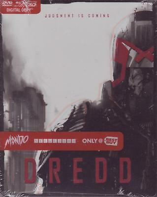 BLURAY - DREDD MONDO STEELBOOK Best Buy Exclusive 3D DVD - Karl Urban NEW SEALED