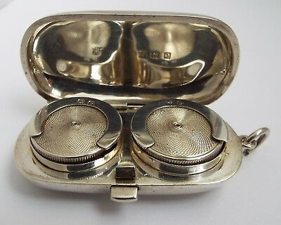 Lovely Decorative English Antique 1913 Sterling Silver Double Sovereign Case