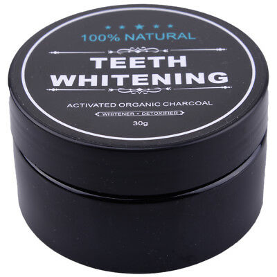 30g Natural Teeth Whitening Powder Activated Charcoal Tooth Polish Toothpaste