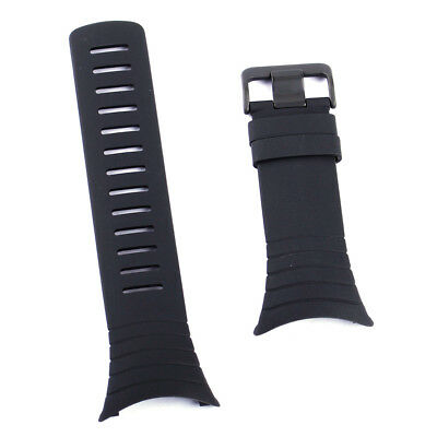 Black Rubber Watch Strap Band Wristband Replacement For Suunto Core SS014993000