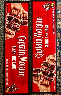 Captain Morgan Bar Runners Brand New Industry Supplied Rubber Backed Bar Mats 2