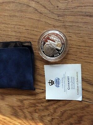 Guernsey Silver Proof £5 Coin