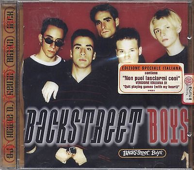 BACKSTREET BOYS - Omonimo - CD EDIZIONE SPECIALE ITALIANA 1996 SIGILLATO SEALED