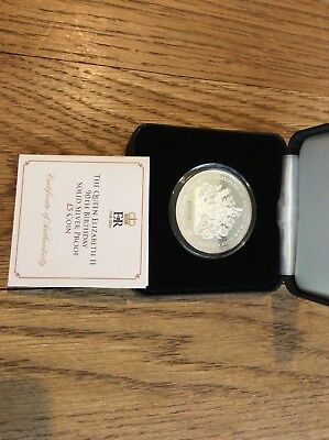 The Queen Elizabeth Ii 90th Birthday Solid Silver Proof £5 Coin